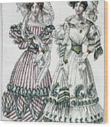Womens Fashion, 1828 Wood Print