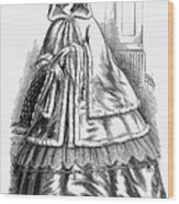 Womens Fashion. C1850s Wood Print by Granger