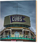 Wrigley Field Bleachers Wood Print