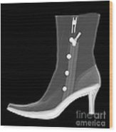 X-ray Of A Dress Boot Wood Print