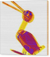 X-ray Of A Wooden Duck Toy Wood Print