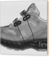 X-ray Of Childs Shoe Wood Print