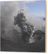 Yasur Eruption, Tanna Island, Vanuatu Wood Print