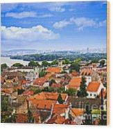 Zemun Rooftops In Belgrade Wood Print