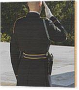 Honor Guard At The Tomb Wood Print