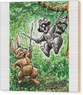 20 - Jennings State Forest - Sword Play Wood Print