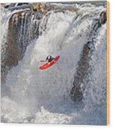 Kayaking Wood Print
