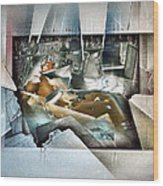 #20 Reclining Nude Wood Print