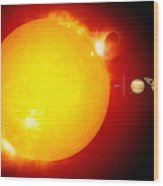 Sun And Its Planets Wood Print