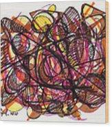 2010 Abstract Drawing 24 Wood Print