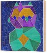 2010 Cubist Owl Negative Wood Print by Lilibeth Andre