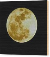 2011 Full Moon Wood Print