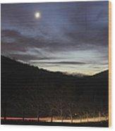 20111127moon Wood Print