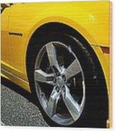 2012 Chevrolet Camaro Right Abstract Wood Print