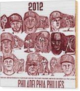 2012 Philadelphia Phillies Wood Print