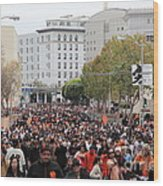 2012 San Francisco Giants World Series Champions Parade Crowd - Dpp0001 Wood Print by Wingsdomain Art and Photography