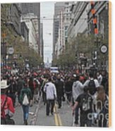 2012 San Francisco Giants World Series Champions Parade Crowd - Dpp0002 Wood Print by Wingsdomain Art and Photography