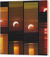 2012 Solar Eclipse Wood Print by Elizabeth Hart