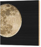 2012 Super Moon Wood Print