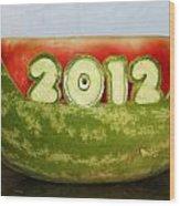 2012 Watermelon Carving Wood Print