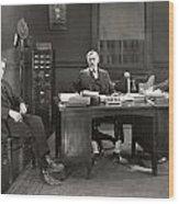 Silent Film Still: Offices Wood Print
