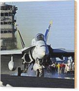 An Fa-18c Hornet Launches Wood Print