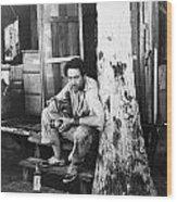 Silent Still: Single Man Wood Print