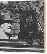 Franklin D. Roosevelt Wood Print