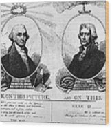 Thomas Jefferson (1743-1826) Wood Print