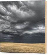 Storm Clouds Saskatchewan Wood Print