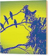 Crows Crows And Crows Wood Print