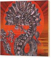 288 Rising Sun Krytose Wood Print
