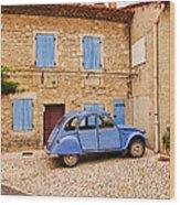 2cv Dans Le Bleu Francais St Remy De Provence Wood Print