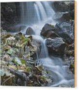 Waterfall Wood Print by Odon Czintos