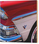 1958 Ford Fairlane Skyliner Convertible Wood Print by David Patterson