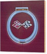 1967 Chevrolet Corvette Emblem Wood Print