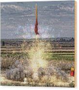 3 2 1 Launch Wood Print