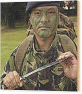 A British Army Gurkha Wood Print