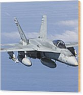 A Cf-188a Hornet Of The Royal Canadian Wood Print