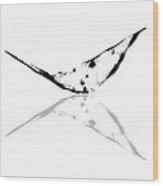 Abstract China Ink Paintings Wood Print