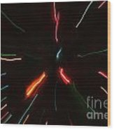 Abstract Motion Lights Wood Print