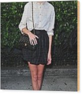 Alexa Chung Wearing A 3.1 Phillip Lim Wood Print