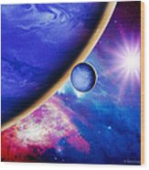 Alien Planet Wood Print
