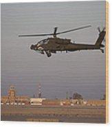 An Ah-64d Apache Longbow Block IIi Wood Print