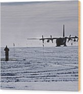 Antarctic Airfield Wood Print