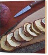 Apple Chips Wood Print