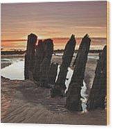 Ardrossan Sunset Wood Print