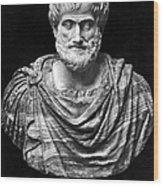 Aristotle (384-322 B.c.) Wood Print by Granger