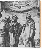 Aristotle, Ptolemy And Copernicus Wood Print by Science Source