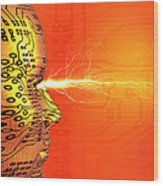 Artificial Intelligence Wood Print